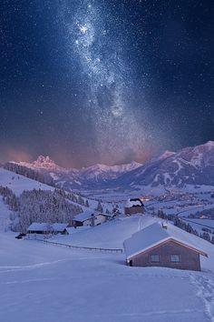 Pars Kutay Google+ Milky Way over Tyrolian Mountains, Italy by Michi B.
