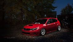 Little red riding in the hood #subaru #wrx