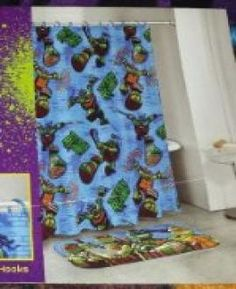 Teenage Mutant Ninja Turtles Bath Mat Color Blue Tmnt House Colors Curtains Net Blinds Rugs Mats