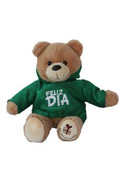 Un osito tierno, siempre alegra el día, y que mejor que un mensaje directo, con un FELIZ DIAAAAA,, eso llega directo al corazón y se refleja en la sonrisa. Osos de peluche con domicilio en Bogotá y en las principales ciudades de Colombia. Teddy Bear, Animals, Birthday Gifts, Anniversary Gifts, Gift Cards, Personalized Gifts, Smile, Animales, Animaux