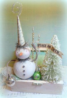 Chistmas Holiday Decor Winter Wonderland by CatandFiddlefolk, $65.00