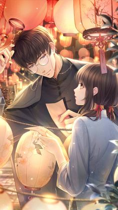 "Indulgent Husband and Sweet Wife - Romance story ""Indulgent Husband and Sweet Wife"". Betrothed when still in womb by parents, Ai C - Cool Anime Guys, Handsome Anime Guys, Anime Boys, Anime Couples Manga, Cute Anime Couples, Magic Anime, Anime Love Couple, Manga Drawing, Cute Love"