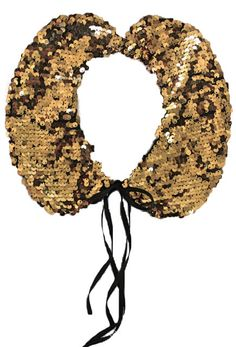Amelia Earhart Collar, Monique Germon. (what do you mean, I'd never wear a gold sequinned collar? pshaw!)