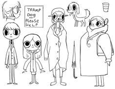 "David OReilly ""Tramp Dog"" character design"