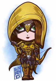 Speedy (Thea Queen) a lá Arkham Knight by Lord Mesa Marvel Vs, Chibi Marvel, Marvel Dc Comics, Cartoon Art, Cute Cartoon, Logo Super Heros, Lord Mesa Art, Super Heroine, Thea Queen