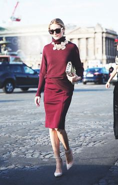 Polished office looks for every day of he month. Olivia Palermo Image Via: Who What Wear. Business Mode, Business Outfit, Business Casual, Fashion Mode, Work Fashion, Fashion Trends, Paris Fashion, Street Fashion, Fashion Tips