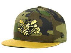 Charlotte Hornets NBA Hardwood Classics Gold Mine Series 59FIFTY Cap Hats