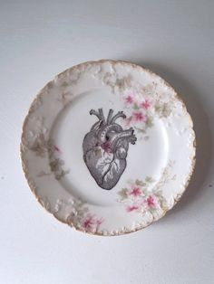 Vintage Anatomical Heart Plate Altered Art by TheLuckyFox on Etsy, $21.00