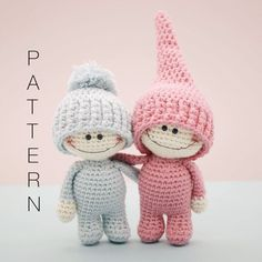 Amigurumi crochet doll - The Little Doodahs Wilbur and Bertie dolls PATTERN ONLY (English)