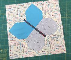 Dandy Flowers QuiltAlong - Block 4 Butterfly