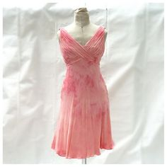 Blush Silk Chiffon Dress  http://www.roughandtumblevintage.com/