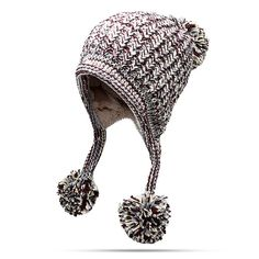 ffc96724a6f Women Winter Earflap Knit Trapper Warm Hats Acrylic Pompom Beanie Hats  Bomber Hat is designer
