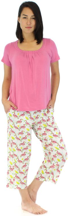0e4f4ed2bc Pajama Heaven Women s Bamboo Jersey Capri Pajama