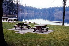 Nolte Picnic Tables and Lake