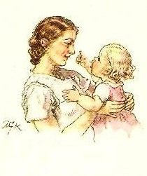MKF Mother And Father, Mothers, Forest Fairy, Vintage Art, Children, Kids, Drawing, Beauty Illustrations, Retro