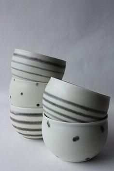 porcelain tea bowls