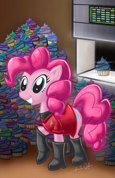 My Little Pony Pinkie Pie Star Trek Poster by Garios on Etsy, $10.00