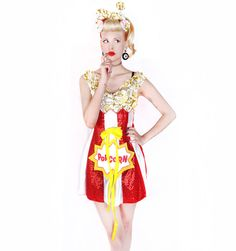 Movie Popcorn Dress http://patriciafield.com/collections/halloween/products/popcorn-dress  Popcorn ankle socks http://patriciafield.com/products/popcorn-ankle-socks