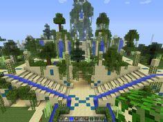 Hanging Gardens Minecraft Project Minecraft Garden, Amazing Minecraft, How To Play Minecraft, Minecraft Projects, Minecraft Designs, Minecraft Kingdom, Minecraft Skins, Minecraft Stuff, Stars Craft