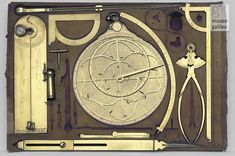 Box of mathematical instruments, second half 17th cent. - first half 18th cent.