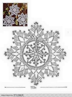 I love snowflakes. I love to crochet them and to decorate with them. We use them as Christmas tree ornaments and on hanging wreath. Every year I'm asked to share crochet snowflakes diagrams& Filet Crochet, Crochet Motifs, Crochet Diagram, Thread Crochet, Irish Crochet, Crochet Crafts, Crochet Doilies, Crochet Flowers, Crochet Books