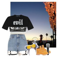 """""""Decode Tour: Liverpool, England"""" by epilxgue ❤ liked on Polyvore featuring River Island, Timberland, T By Alexander Wang and I.D. SARRIERI"""