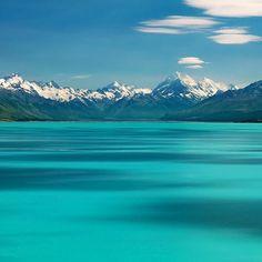 Lake Pukaki, in Canterbury, New Zealand