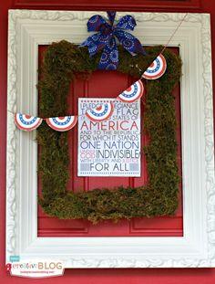 DIY Patriotic Door Decorations | TodaysCreativeblog.net