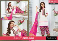 Beautiful White Pink Patiyala Suit at Rs1400 Only Visit http://enasasta.com/deal/white-pink-patiyala-suit OR Call/WhatsAp-8288886065  Product Code : -ESC28P8  Deal is Valid For Today Only  Top:Cotton Bottom: Cotton Embriodered Dupatta: Chiffon Work: Embriodery Fabric : Unstitched  Get 5% Extra Discount for Advance Payment on every Deal  Cash On Delivery Available !!  FREE Shipping!!