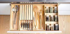 organized drawer  bulthaup b1 Innenausstattung Birke Massivholz
