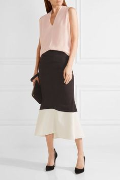 Narciso Rodriguez - Wool And Cashmere-blend Top - Pastel pink