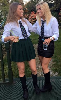 Only One Girl Dressed In Proper School Uniform