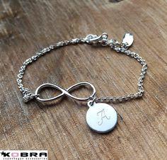 Infinity - sølv armbånd med uendelighedstegnet og ID tag inkl. gravering