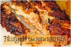 Falling off the bone barbecue ribs taste amazing from Walking on Sunshine.