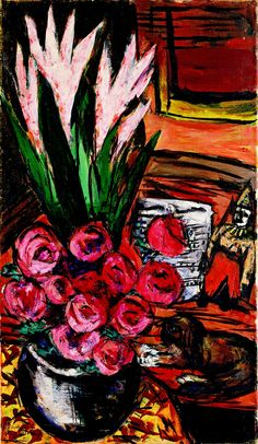 Max Beckmann - Cat and Flowers