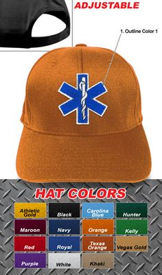 1f1035c7bccc4 Fire Department Clothing Firefighter Custom Fire Department Adjustable EMS  Velcro Hat  13.95