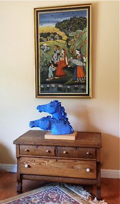 Horses Ceramic Horses Blue Horses by BlueFireStudio on Etsy, $825.00
