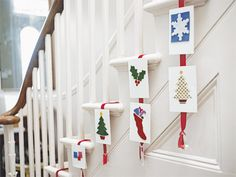 Christmas Staircase Decorations | decorated staircase