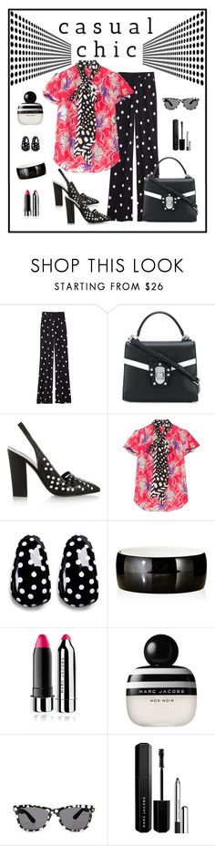 """Marc Jacobs Polka Dot Bow Blouse Look"" by romaboots-1 ❤ liked on Polyvore featuring Monse, Dolce&Gabbana, Tory Burch, Marc Jacobs, Kenneth Jay Lane and Nest"
