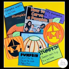 Halloween and Pumpkin Book activities for Stumpkin, the stemless pumpkin