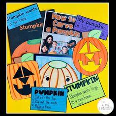 Halloween and Pumpkin Book activities for Stumpkin, the stemless pumpkin