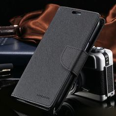 For Galaxy Note 8 Genuine MERCURY Goospery Black Folio Flip Case Wallet Cover