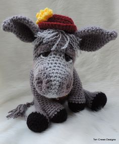 Simply Cute Donkey By Teri Crews - Purchased Crochet Pattern - (ravelry)