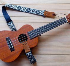 Blue Retro Style Ukulele Strap 3in1 by Qilinlibrary on Etsy https://www.etsy.com/listing/261808213/blue-retro-style-ukulele-strap-3in1