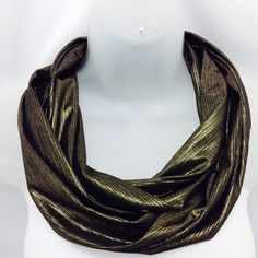 Check out Black Bronze Gold knit scarf , Winter neckwear, Birthday gift, Gift for mom, New Years gift, Gift under 5, Gift for Him, Black Gold scarf on blingscarves