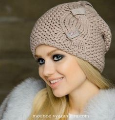 VK is the largest European social network with more than 100 million active users. Crochet Shawl, Knit Crochet, Bennies Hats, Baby Cardigan, Warm Outfits, Ear Warmers, Girl With Hat, Beret, Hats For Men