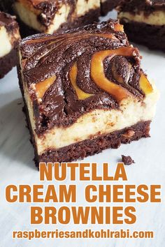 Nutella Cheesecake, Nutella Brownies, Homemade Brownies, Cheesecake Brownies, Fudgy Brownies, Brownie Cake, Nutella Cream Cheese, Cream Cheese Brownies, Cream Cheese Eggs