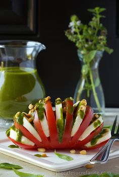 Sweet Basil Vinaigrette. Try this - love the photo too, thinking kiddie party…