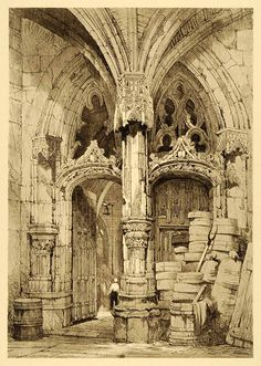 """Oriental style """"replicated"""" in the Cathedral Interior Tours France Renaissance Architecture, Gothic Architecture, Historical Architecture, Ancient Architecture, Architecture Details, Tours France, Architectural Prints, Architectural Elements, Medieval Life"""