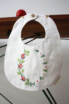 embroidered bib